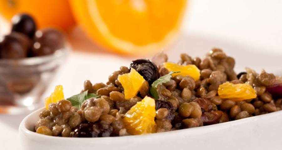 insalata lenticchie e arance